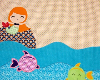 """blanket / plaid baby """"under the sea"""""""