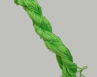 1 SKEIN of 25 meters of thread NYLON cord braided 1 mm Green