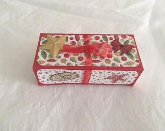 Box Christmas chocolate balls