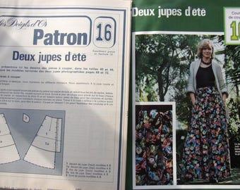 pattern No. women summer skirts vintage sewing 16