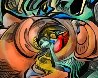 Abstract Art Print. Swirls Of Joy