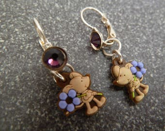 "Earrings ""p"" little mouse """