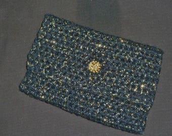 Wool crochet pouch