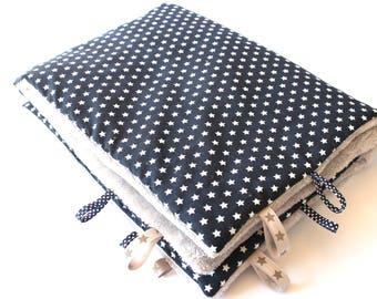 Blue blanket/plaid Navy Blue soft 72x90cm