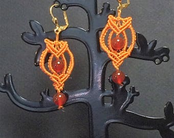 """""""Dare to be"""" earrings with carnelian"""