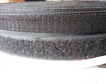 Black - 1 m 20mm velcro strap
