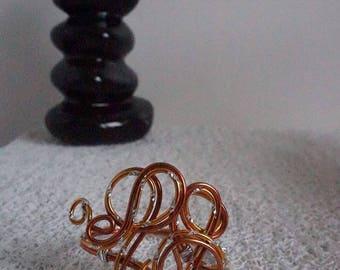 orange silver bracelet