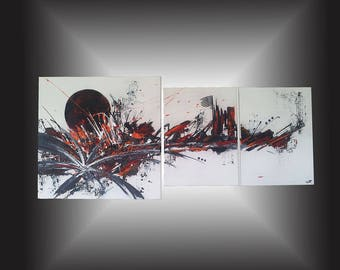 """Magma"" contemporary abstract wall painting"