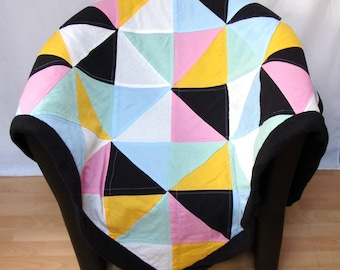 Plaid sofa adult plaid patchwork Scandinavian