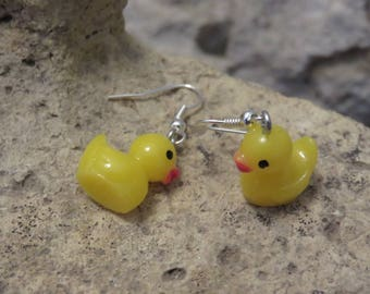 Earrings 1 yellow ducks