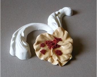 Cold porcelain flower gold