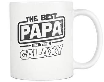 Papa Mug, Papa Gift, Best in the Galaxy, 11oz Tea Cup Coffee Mug