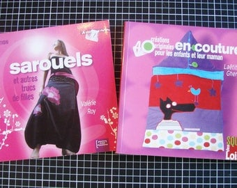 Set of 2 books - sewing - woman and baby clothes