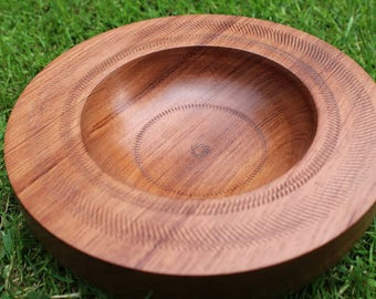 Wooden bowl mahogany