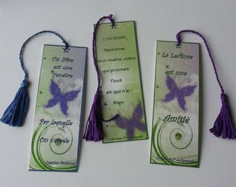 Bookmark pattern tie, 6 different designs with quote. The unit