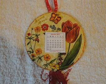 CD repaints monthly calendar hanging 2017 (No. 8)