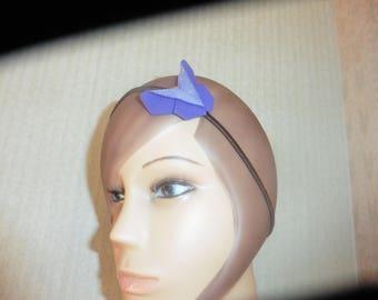 headband, Head Band, head jewelry Purple Butterfly origami glitter gold