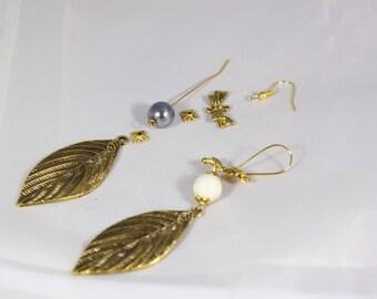 Kit earrings Golden 90 mm