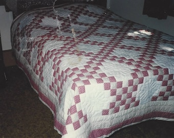 Triple Irish Chain Vintage Quilt