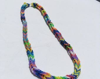 Rainbow Loom Multicolored Necklace