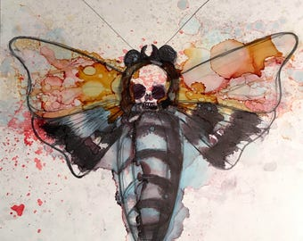 Original death moth painting