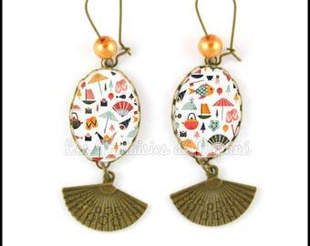 Earrings Asian pattern