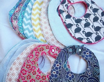 Cotton and Terry baby bib