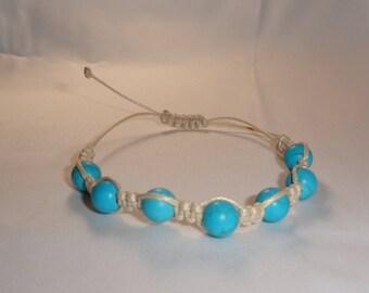 Sliding turquoise chakra bracelet