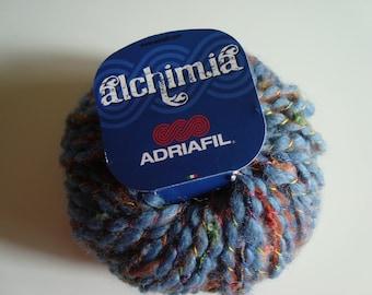 50 g ALCHIMIA ADRIAFIL - 8 needles - blue wool yarn - wool acrylic polyamid