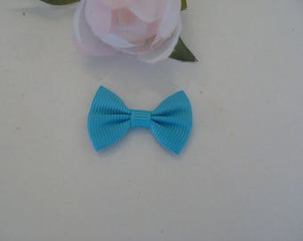 bow tie blue blend cotton polyester 3 * 2 cm
