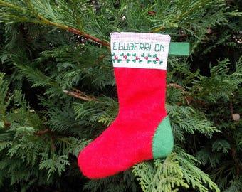"""Boot Christmas ornament """"Eguberri On"""""""