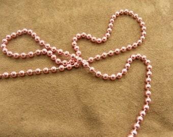 Metal chain - 0.35 cm - pink