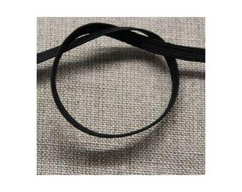 Ribbon elastic-3 mm - black