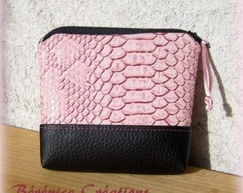 "Wallet ""joyful color"" light pink"