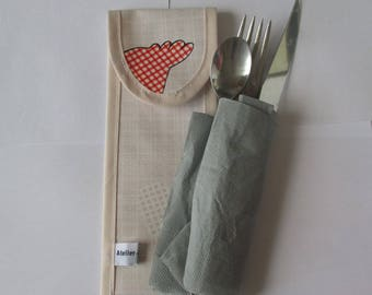 gift is covered in waxed canvas small hens
