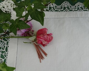 Vintage doily in white lace vintage lace doily, placemat, antique french lace doily, bobbin lace