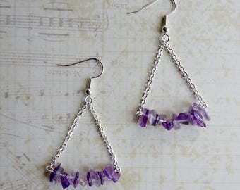 Dangling earrings - Purple Algorithm