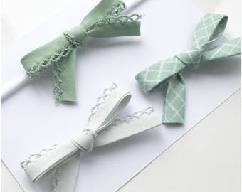 Cloudy mint set of bows