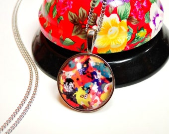 Happy colorful necklace pendant necklace