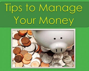 tips to manage your money