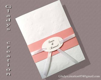 with headband wedding invitation