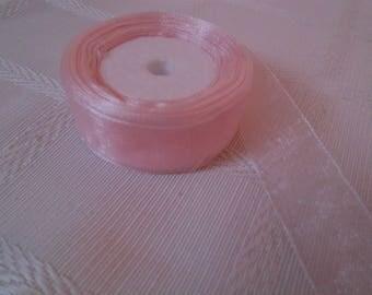 Pink organza Ribbon 2 cm