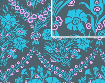 DISCOUNTED Amy Butler Josephine's Bouquet 1/2 yard Slate in Cameo Collection