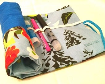 "Pencil roll ""Mountain"" ultra practical fabric wallet"