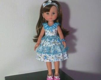 Small turquoise blue ruffle dress