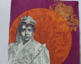 Indian portrait paper towel
