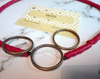 Set of 5 connectors rings /bagues ☆ / bronze / 32 x 3 mm / hole: 1.5 mm☆