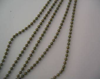 Chain is 2.4 mm bronze lead and nickel (CH001)