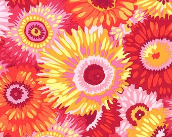 Philip Jacobs flowers pwj079hotxx patchwork fabric