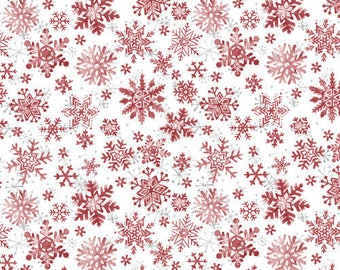 Christmas red snowflakes 103/63702 patchwork fabric
